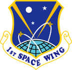 STICKER USAF 1ST SPACE WING