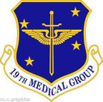 STICKER USAF 19th Medical Group Emblem