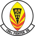 STICKER USAF 199TH FIGHTER SQUADRON