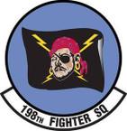 STICKER USAF 198th FIGHTER SQUADRON