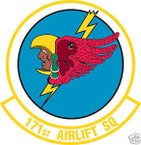 STICKER USAF 171ST AIRLIFT SQUADRON