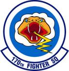 STICKER USAF 170TH FIGHTER SQUADRON