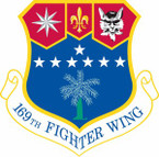 STICKER USAF 169th Fighter Wing