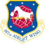 STICKER USAF 167TH AIRLIFT WING