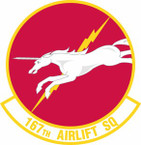STICKER USAF 167th Airlift Squadron