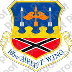 STICKER USAF 165th Airlift Wing A