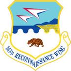 STICKER USAF 163d Reconnaissance Wing