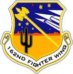 STICKER USAF 162ND FIGHTER WING