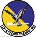 STICKER USAF 15th Reconnaissance Squadron
