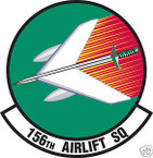 STICKER USAF 156TH AIRLIFT SQUADRON