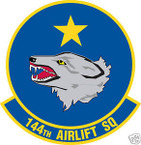 STICKER USAF 144TH AIRLIFT SQUADRON
