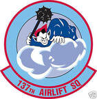 STICKER USAF 137TH AIRLIFT SQUADRON