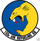 STICKER USAF 133RD AIR REFUELING SQUADRON
