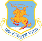 STICKER USAF 132nd Fighter Wing