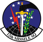 STICKER USAF 12TH MISSLE SQUADRON