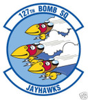 STICKER USAF 127TH BOMB SQUADRON