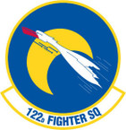 STICKER USAF 122nd FIGHTER SQUADRON