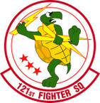 STICKER USAF 121ST FIGHTER SQUADRON