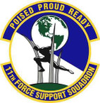 STICKER USAF 11th Force Support Squadron