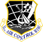 STICKER USAF 11TH AIR CONTROL WING
