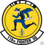 STICKER USAF 118TH FIGHTER SQUADRON