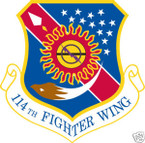 STICKER USAF 114TH FIGHTER WING