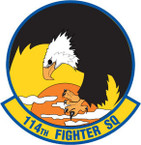 STICKER USAF 114TH FIGHTER SQUADRON