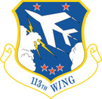 STICKER USAF 113TH WING