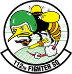 STICKER USAF 112TH FIGHTER SQUADRON
