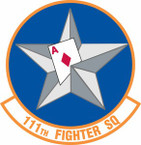 STICKER USAF 111th Fighter Squadron A