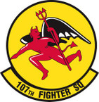STICKER USAF 107TH FIGHTER SQUADRON