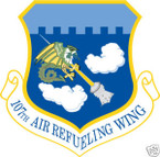 STICKER USAF 107TH AIR REFUELING WING