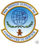 STICKER USAF  96TH MISSION SUPPORT SQUADRON