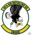 STICKER USAF  96TH AIR REFUELING SQUADRON