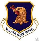 STICKER USAF  96TH AIR BASE WING