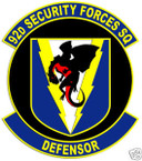 STICKER USAF  92ND SECURITY FORCES SQUADRON