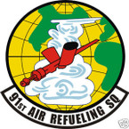 STICKER USAF  91ST AIR REFUELING SQUADRON