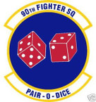STICKER USAF  90TH FIGHTER SQUADRON