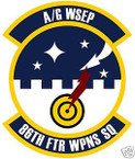 STICKER USAF  86TH FIGHTER WEAPONS SQUADRON