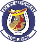 STICKER USAF  63RD AIR REFUELING SQUADRON