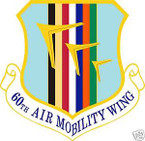 STICKER USAF  60TH AIR MOBILITY WING