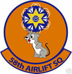 STICKER USAF  58TH AIRLIFT SQUADRON DECAL