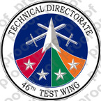 STICKER USAF  46TH TEST WING