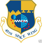 STICKER USAF  45TH SPACE WING