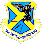 STICKER USAF  37th Tactical Fighter Wing