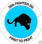 STICKER USAF  35TH FIGHTER SQUADRON