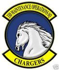 STICKER USAF  33RD MAINTENANCE OPERATIONS