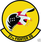 STICKER USAF  27TH FIGHTER SQUADRON