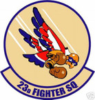 STICKER USAF  23RD FIGHTER SQUADRON