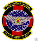 STICKER USAF  23RD AEROMEDICAL EVAC SQUADRON